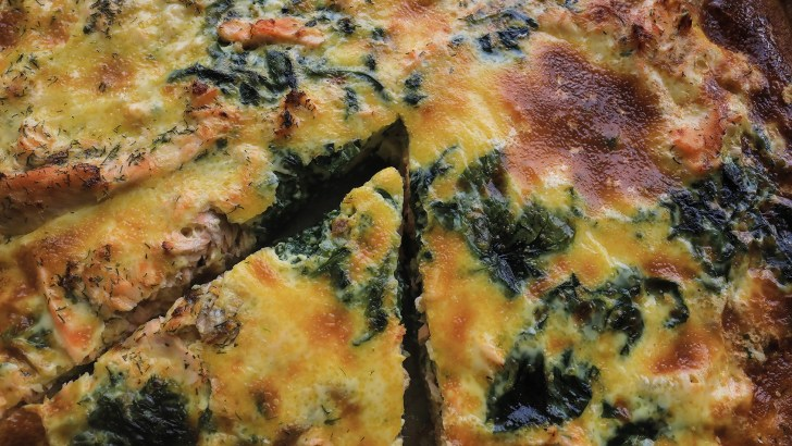 Kylemore Abbey: Salmon and Spinach Quiche