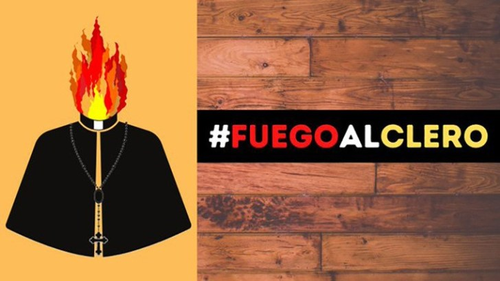 Twitter criticised as 'Burn the clergy' hashtag trends in Spain