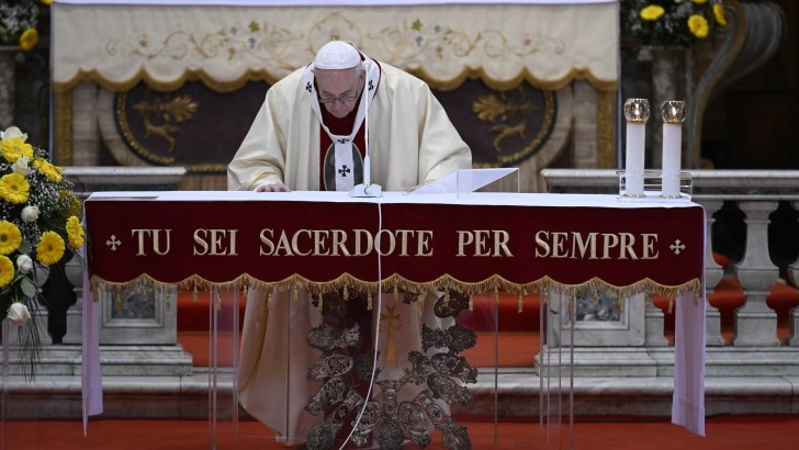 Pope Francis to offer Divine Mercy Sunday Mass in church with St Faustina's relics