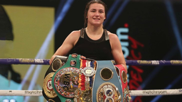 Katie Taylor thanks God after retaining world titles