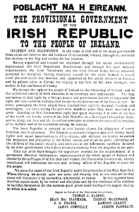 The 1916 Proclamation of the Irish Republic