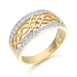 9ct Gold Celtic Ring-3238