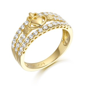 9ct Gold Claddagh Ring-CL31