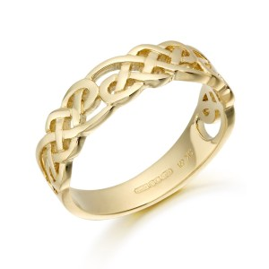 9ct Gold Celtic Ring-3242
