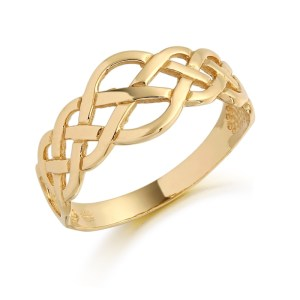 9ct Gold Celtic Ring-3240