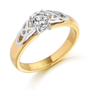18ct Gold Diamond Celtic Ring-DPL498