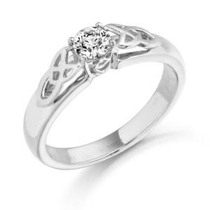 18ct Gold Diamond Celtic Ring-DPL498W