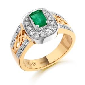 18ct Gold Diamond Celtic Ring-DPL522