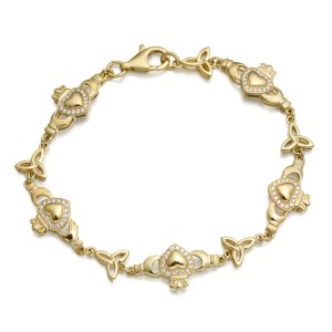 9ct Gold Claddagh Bracelet - CLB32