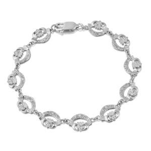 Gold Claddagh Bracelet - CLB4CZW