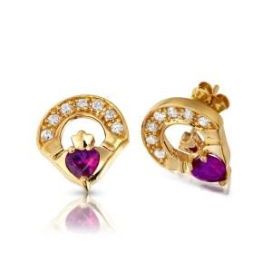 Claddagh Earrings-E187A