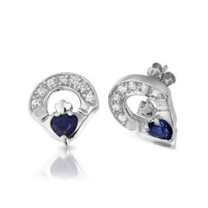9ct Gold Claddagh Earrings-E187SW