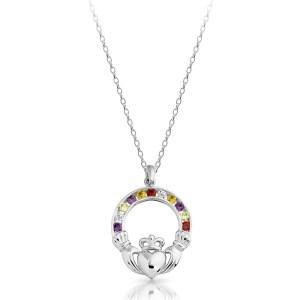 Silver Claddagh Pendant-SP014MS