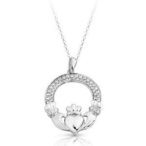 Silver Claddagh Pendant-SP018