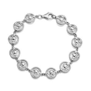 Silver Claddagh Bracelet-SCLB31
