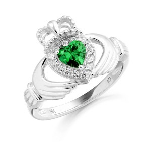 Silver Claddagh Ring-SCL28G