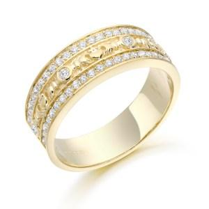 Claddagh Wedding Band-CL17