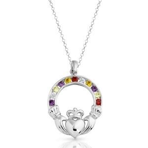 Silver Claddagh Pendant-SP014M