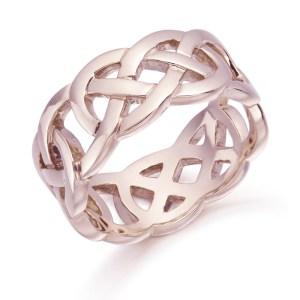 Rose Gold Celtic Wedding Ring-1519R