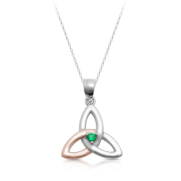 Silver Trinity Knot Celtic Pendant-SP84