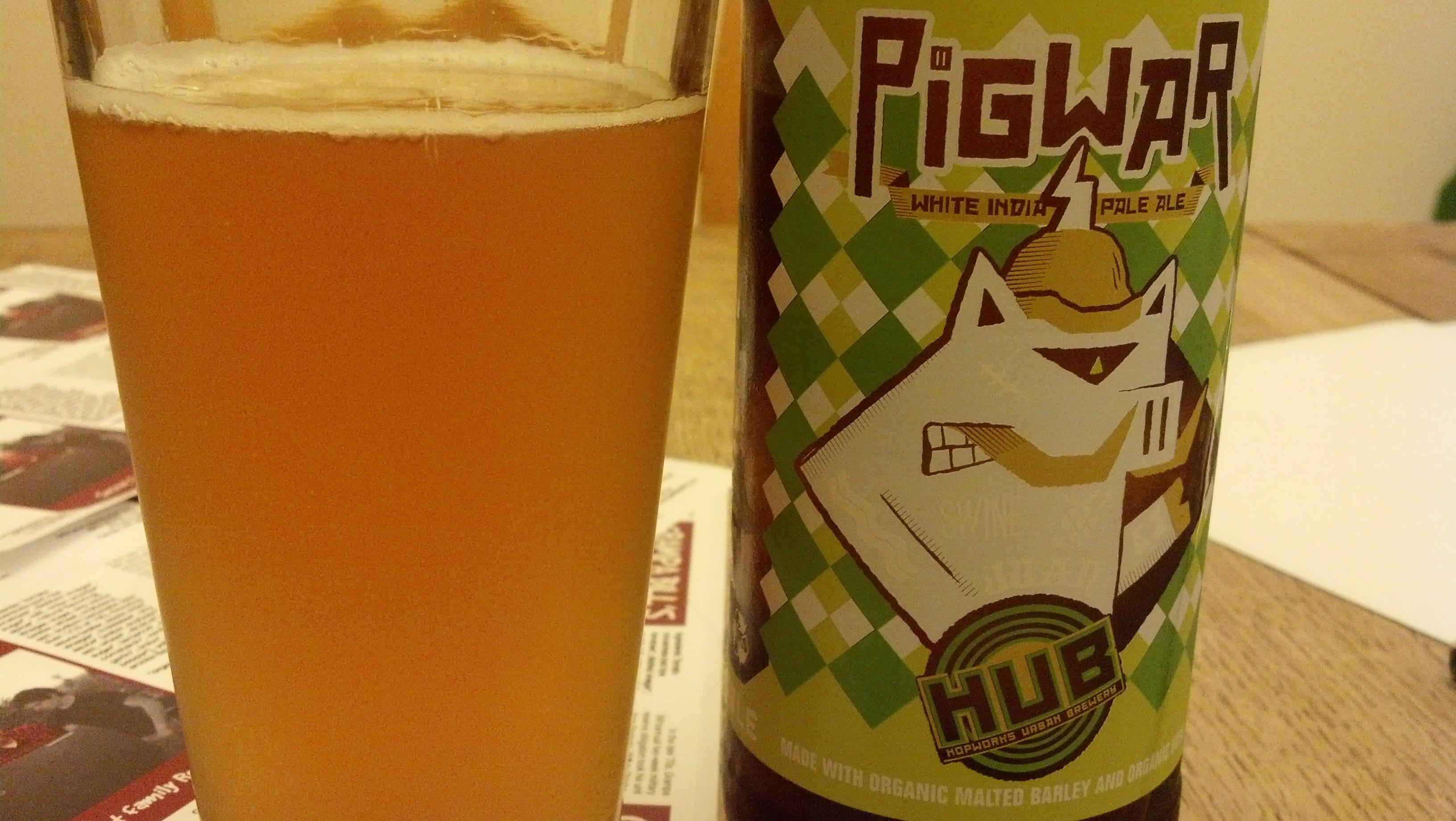 Friday Happy Hour – HUB's Pigwar White India Pale Ale
