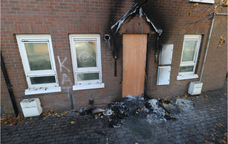 Sectarian Message Kill All Taigs Sprayed In Arson Attack