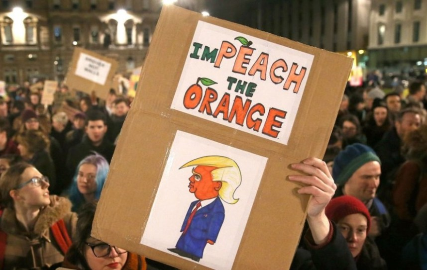 Image result for free to use image of irish protestors against trump visit to ireland