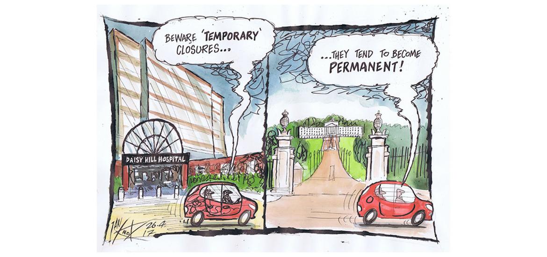 Image result for hospital closures cartoon