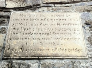 The quaternion plaque on Broombridge © Cliff Bilbrey on Flickr (CC BY-NC 2.0)