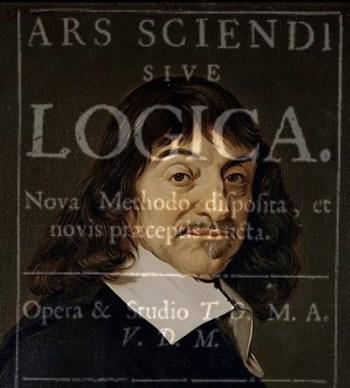 Descartes and Ars Sciendi (edit of  public domain image, Wikimedia)