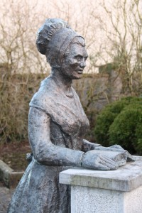 Statue of Mary Leadbeater, Ballitore Image courtesy Gerard Cummingham (@faduda).
