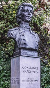 Constance Markievicz Bust, St Stephens Green © William Murphy/Flickr (CC BY-SA 2.0)