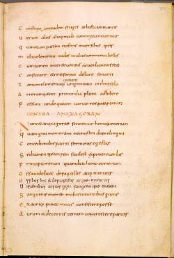 """Page from """"O"""" showing corrections in darker ink (c) Leiden University Library, ms. VLF 30, fol. 22r"""