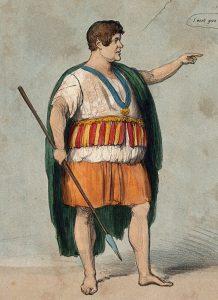 Daniel O'Connell as an Irish chieftain
