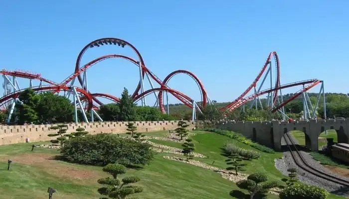 Rollercoster Port Aventura - Irish Rugby Tours To Barcelona