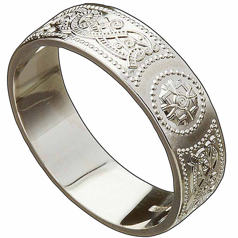 Irish Wedding Ring Celtic Warrior Mens Wedding Band At