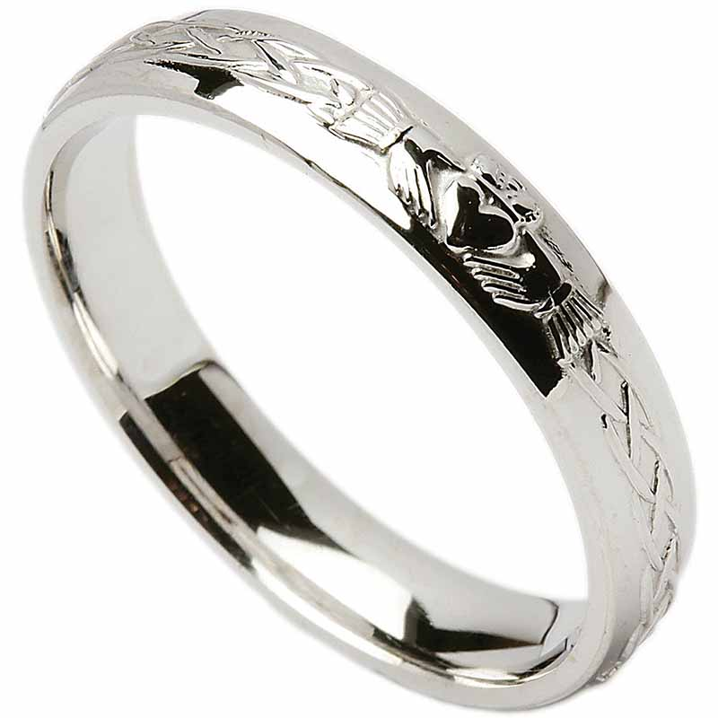 Irish Wedding Ring Celtic Knot Claddagh Ladies Wedding