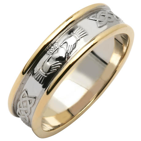 Irish Wedding Ring Ladies Sterling Silver Amp 14k Yellow