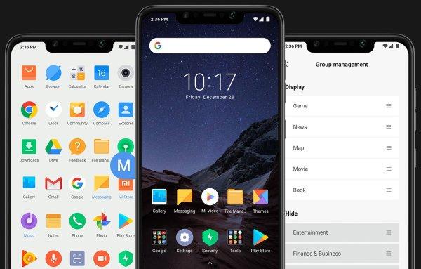 The Xiaomi Pocophone F1 runs MIUI.