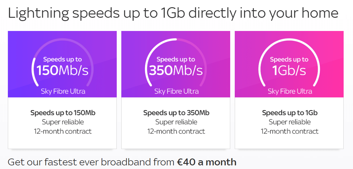 Sky Fibre Ultra launched in ireland