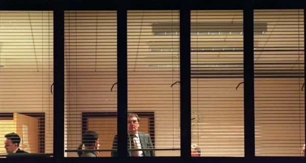 SDLP leader John Hume taking a break during final deliberations of the Good Friday Agreement in April, 1998