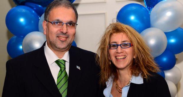 Embassy couple: the Israeli ambassador to Ireland, Boaz Modai, and his wife, Nurit Tinari Modai. Photograph: Eric Luke/The Irish Times