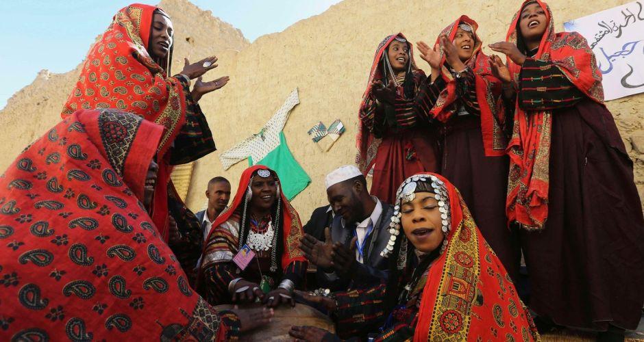 Tuareg festival in the Libyan desert