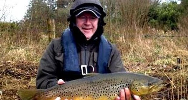 Danny Murray, Terenure, Dublin, with a magnificent trout, 3.8kg in weight, 64cm in length, caught and released on Lough Sheelin last weekend. Danny was ghillied by Gary McKiernan
