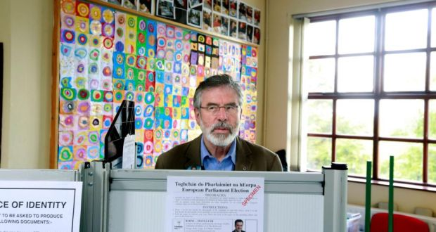 Sinn Féin has seen its first ever candidate elected in County Limerick in almost 100 years. Photograph: Cathal McNaughton/Reuters