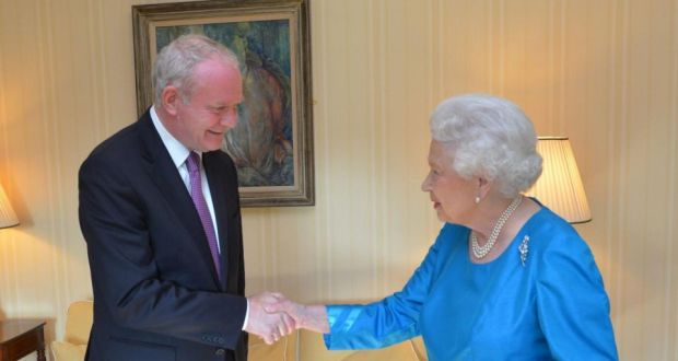 Image result for picture Martin McGuinness met the Queen