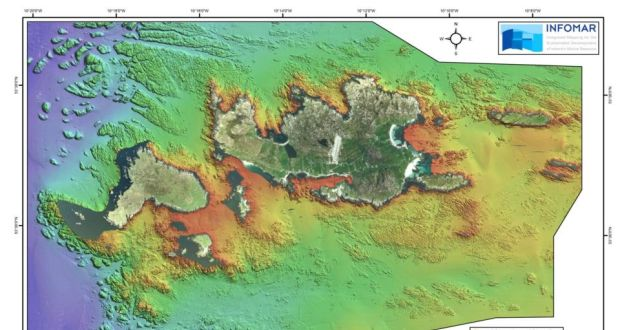 Real map of Inishbofin  published today by Geological Survey of Ireland Seabed survey carried out by the Geological Survey of Ireland in 2012  Data  shown here