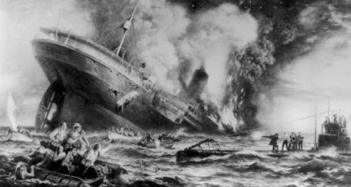 Stamps to be issued to mark centenary of key historical events The sinking of the Cunard ocean liner  Lusitania  by a German submarine off  the