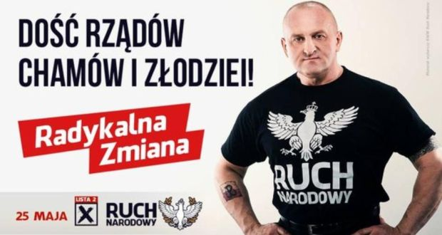 Promotional material for Marian Kowalski, a candidate in next month's Polish presidential election.