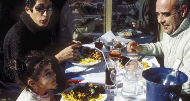 French parents never discipline or punish; they 'educate' in a loving manner, while also letting children know they are not the centre of their parents' universe. Above, al fresco dining in France. Photograph: Philip Game/Lonely Planet via Getty Images